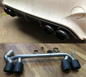BMW F32 F36 4 SERIES CARBON QUAD EXHAUST TIPS TAIL PIPE M3 M4 BUMPER DIFFUSER