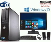 Fast Dell Optiplex Desktop PC Computer Dual Core 3.0Ghz 4GB 1TB Win 10 Pro WIFI