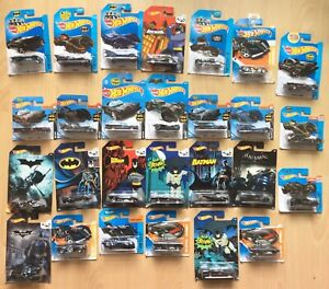 Hot Wheels DC Batman Job Lot Of 27 Vehicles On Unopened Cards