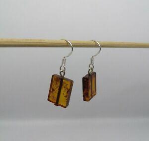Amber earrings, Amber stone, Silver earrings, Drop earrings, Stone earrings