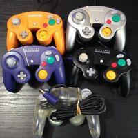 Official Nintendo GameCube Original Controller - BLACK / PURPLE / ORANGE / CLEAR