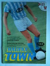Menta 1990/91 Halifax Ciudad v Manchester United League Cup 2nd RD, pierna 1st