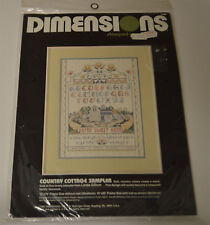 DIMENSIONS COUNTED CROSS STITCH KIT- Country Cottage Sampler #3088 - NEW