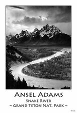 "13""×19"" Photograph Art Poster: SNAKE RIVER and the TETONS MOUNTAINS. Ansel Adams"