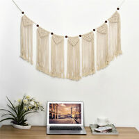 Macrame Woven Wall Hanging Tapestry Handmade Cotton Bohemian Wall Art Home