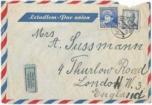 An Airmail Envelope From Ceskoslovensko To London W 3