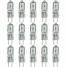 [10 Pack] 10 Watt 12 Volt Halogen Light Bulbs G4 Base Bi-Pin 12V 10W T3 JC Lamp