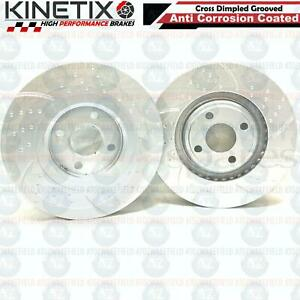 FOR LOTUS ELISE 1.8 FRONT DIMPLED GROOVED PERFORMANCE BRAKE DISCS PAIR 282mm