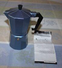 Stove Top Single Cup Espresso Coffee Maker Blue Mastercraft