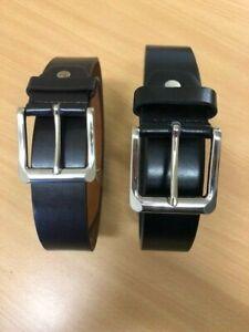 New 38 mm Men Lady Solid  Black Brown Leather Belts