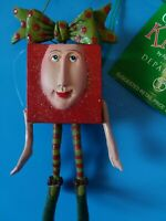 Dept 56 Christmas Krinkles Patience Brewster Red Present Gift Box Ornament  NWT