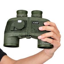7x50 Military Waterproof Floating Marine Binoculars w/ Rangefinder &Compass Best