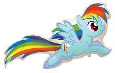 "My Little Pony Rainbow Dash Shaped 26"" Supershape Foil Balloon"
