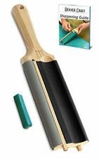 Wood Carving Sharpening Strop Gouge Hook Knife Curved Blades Safer Whittling