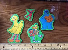 Sesame Street Big Bird Elmo Cookie Monster Bert Ernie fabric Iron On Appliqués 4