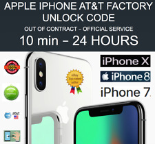 FACTORY PERMANENT UNLOCK SERVICE AT&T iPHONE XS XR X 8 8+ 7 6 SE 5 CLEAN IMEI