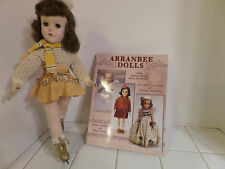 "Beautiful Vintage Arranbee R&B 14"" Nanette Ice Skater All Original"