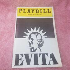 Vintage 1982 Playbill - EVITA - BROADWAY THEATRE Showbill - Program NYC-FreeSHIP