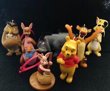 Disney's Winnie the Pooh Christmas Ornament Set of 7 Tigger Kanga Piglet Owl