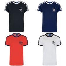 Camisetas de hombre de manga corta negro color principal azul