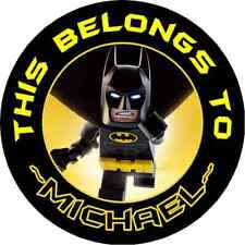Personalized LEGO BATMAN MOVIE Property Stickers name tags School book Labels 24