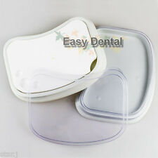Dental Porcelain Mixing Ceramic Watering Wet Tray Plate + 2 Plastic Cases Boxes