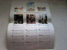 Depeche Mode Fan club calendar 1989