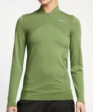 Nike Zonal Cooling Dry Knit Golf Shirt 831073-387 Women's Large Green NEW $120