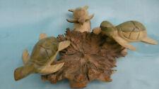 skulptur schildkröte aus holz