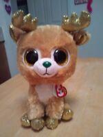 "53ab0a8eb2b New TY Beanie Boos Glitzy Reindeer 9"" Christmas Holiday Free Shipping  Walgreens"