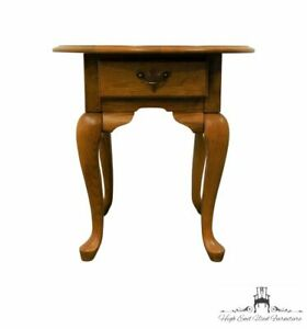 """BROYHILL FURNITURE Oak Country French 23"""" Oval Accent End Table"""