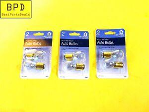 Set Of 3 Packs CEC Clear Double Filament Incandescent Tail Light Bulb 1157