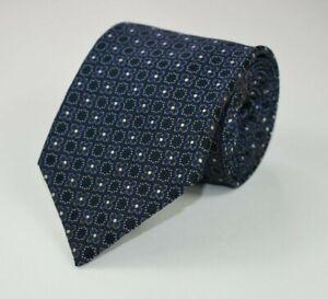 * Massimo Bizzocchi *Brown Blue & Silver Floral 100% Silk Necktie Tie