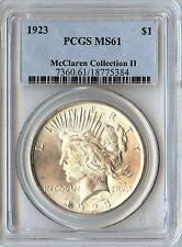 1923 $1 Peace Dollar PCGS MS61