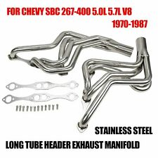 STAINLESS STEEL LONG TUBE HEADER EXHAUST MANIFOLD FOR 70-87 CHEVY SBC 267-400 V8