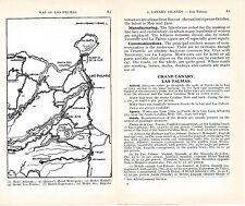 Canary Isl. Gran Canaria 1938 small orig. map + guide (13 p) Las Palmas Tenerife
