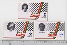 Decal/Sticker - set of 3 Team Castrol Luigi Xhenceval Semoulin Ford BMW