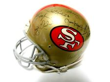 Dwight Clark John Brodie Jim Plunkett Signed Autographed Football Helmet 49ers