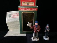 Coca-Cola Town Square Collection Christmas Village Extra Extra Newsman & Man