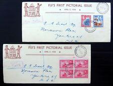 FIJI 1938 G.VI Souvenir FDC's (6) NC206