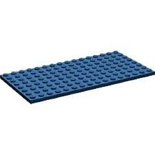 Lego Blue Plate 92438 8x16 (x1) Friends Modular Olivia Star Wars Creator Chima