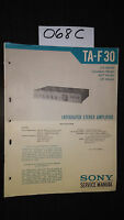 Sony TA-F30 Service Manual original repair book stereo amplifier amp