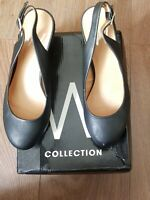 WALLIS BLACK CIANTI WEDGE SHOES SIZE UK 5 EUR 38  CONDITION USED WITH BOX