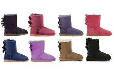 NEW UGG 3280K Bailey Bow Classic GS Big Kid Suede Winter Boots