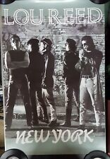 """Lou Reed """"New York"""" promo POSTER never hung"""