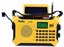 Kaito KA700 AM FM NOAA Weather Radio Recorder Bluetooth Dynamo & Solar - Yellow