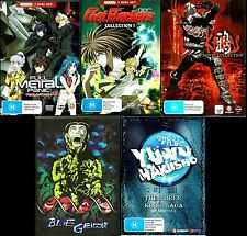 Madman M-Rated Anime Bundle. 5 Boxsets, 24 Discs. Blue Gender etc. As New. R4