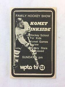 1975 small WPTA tv ad ~ FORT WAYNE KOMETS hockey