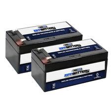 12V 3.5AH SLA Battery replaces PE12V3AF1 PS-1230 UB1234 WP3-12 - 2PK