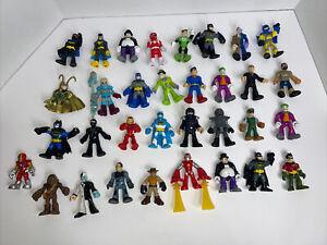 Huge Lot of Imaginext Action Figures Dc Comics Read Description Lot Of 33